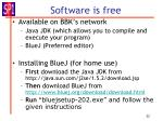 software is free