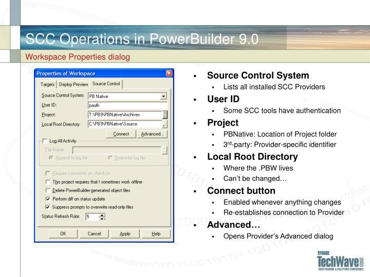SCC Operations in PowerBuilder 9.0