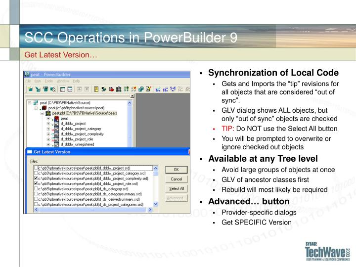 SCC Operations in PowerBuilder 9