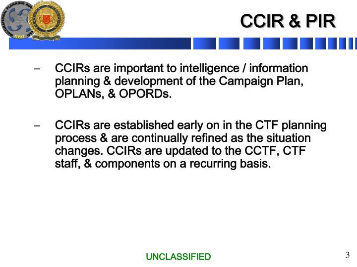 CCIR & PIR