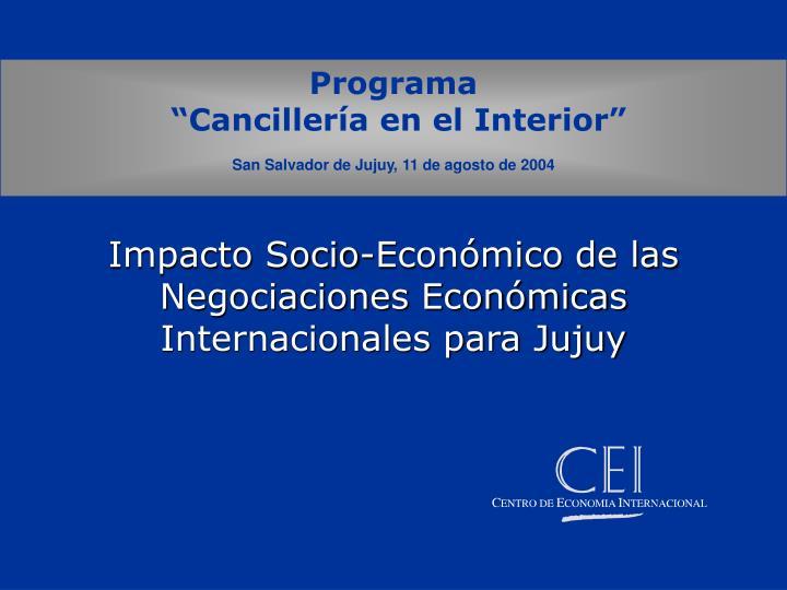 Impacto Socio-Económico de las Negociaciones Económicas Internacionales para Jujuy