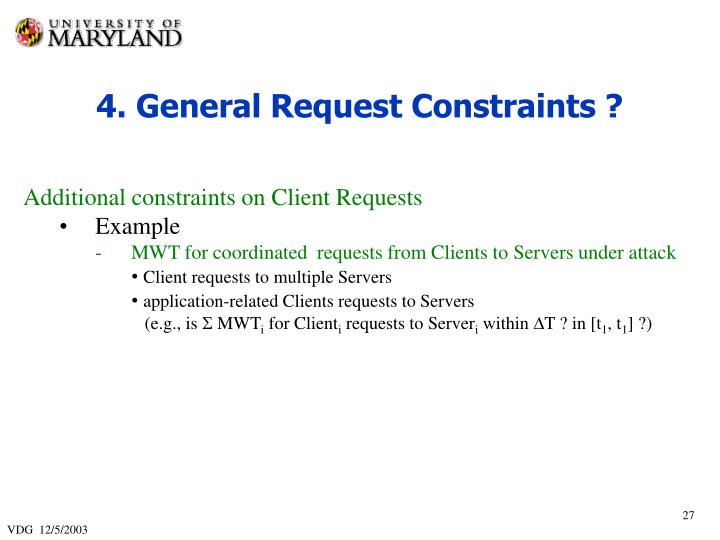 4. General Request Constraints ?