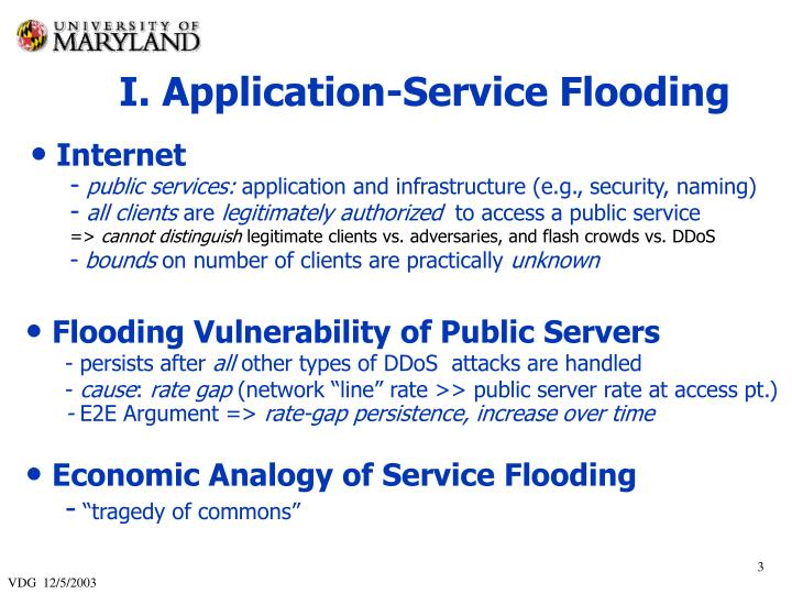 I. Application-Service Flooding
