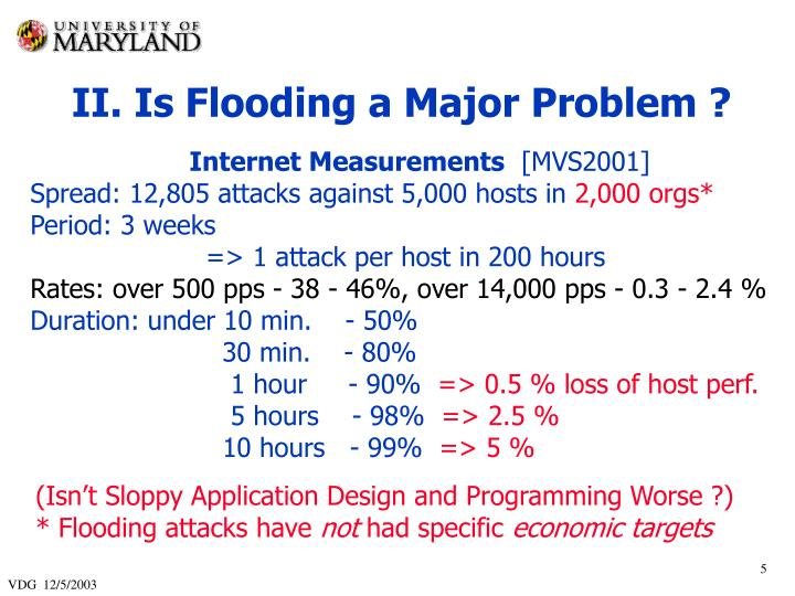 II. Is Flooding a Major Problem ?