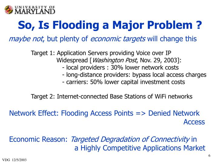 So, Is Flooding a Major Problem ?