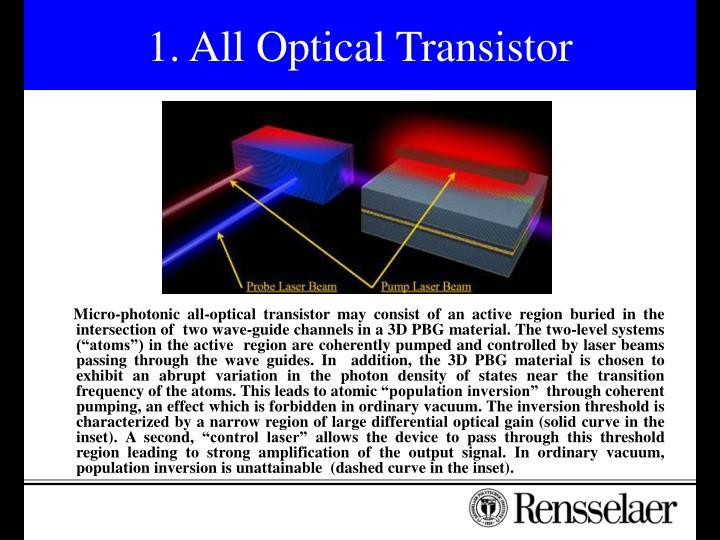 1. All Optical Transistor