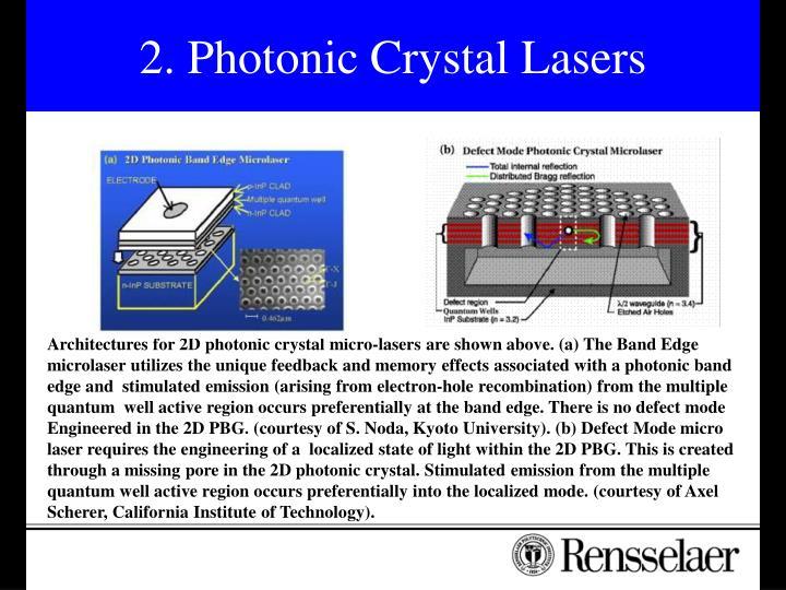 2. Photonic Crystal Lasers