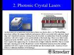 2 photonic crystal lasers