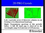 2d pbg crystals