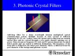 3 photonic crystal filters
