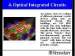 4 optical integrated circuits