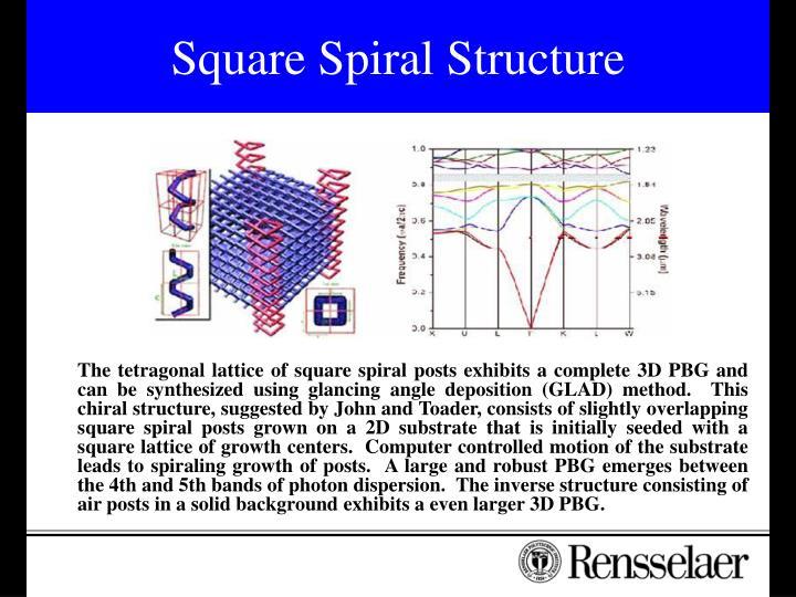 Square Spiral Structure