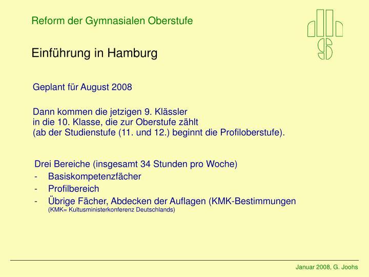 Einführung in Hamburg