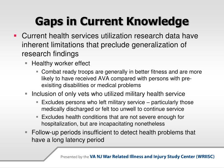Gaps in Current Knowledge