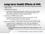 long term health effects of ava