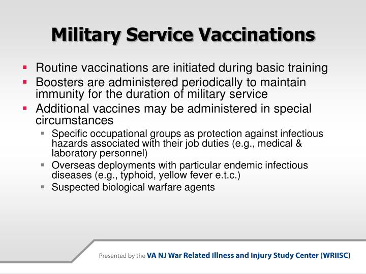 Military service vaccinations