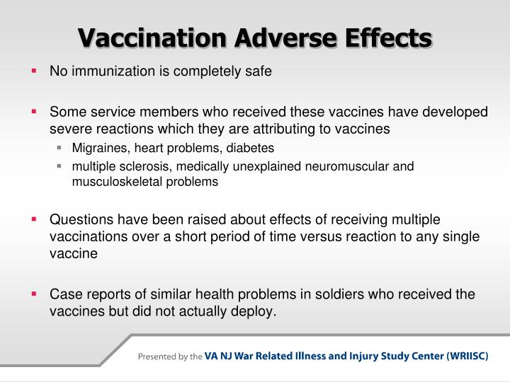 Vaccination Adverse Effects