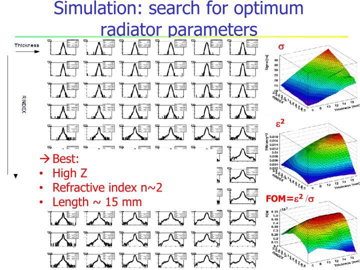 Simulation: search for optimum
