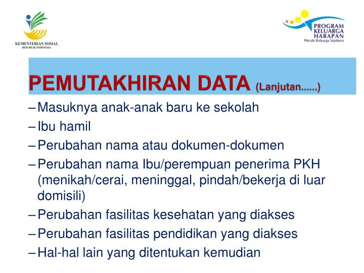 PEMUTAKHIRAN DATA