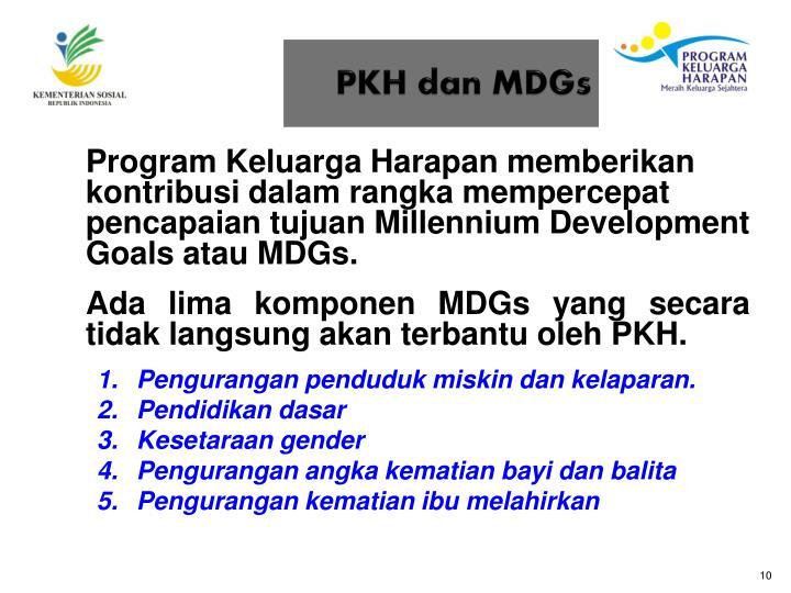 PKH dan MDGs