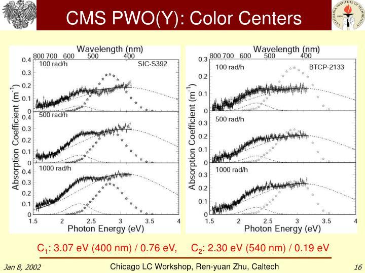 CMS PWO(Y): Color Centers