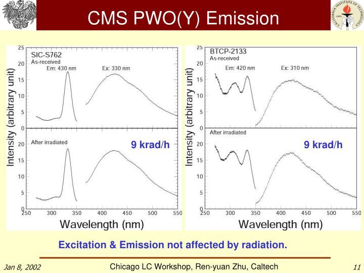 CMS PWO(Y) Emission