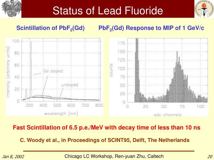 Status of Lead Fluoride
