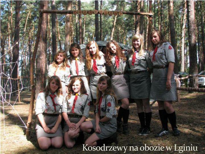 Kosodrzewy na obozie w