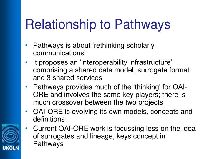 Relationship to Pathways