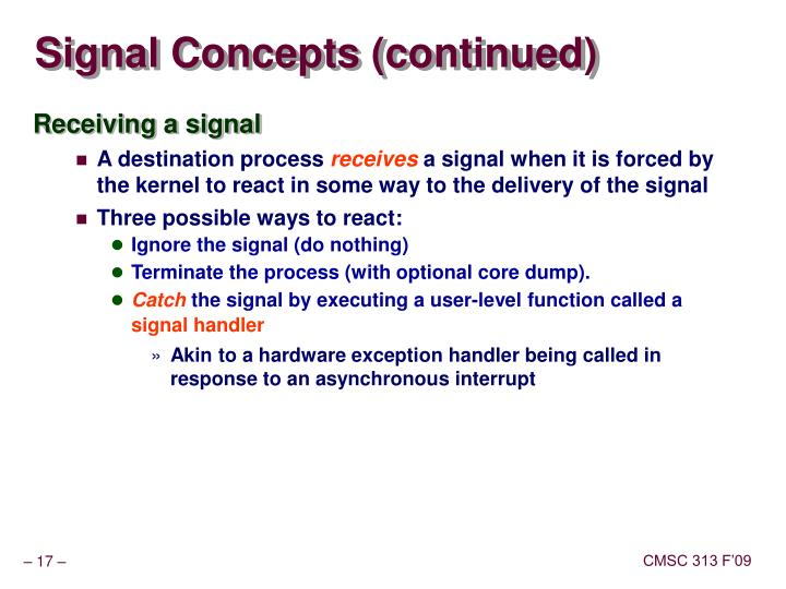 Signal Concepts (continued)