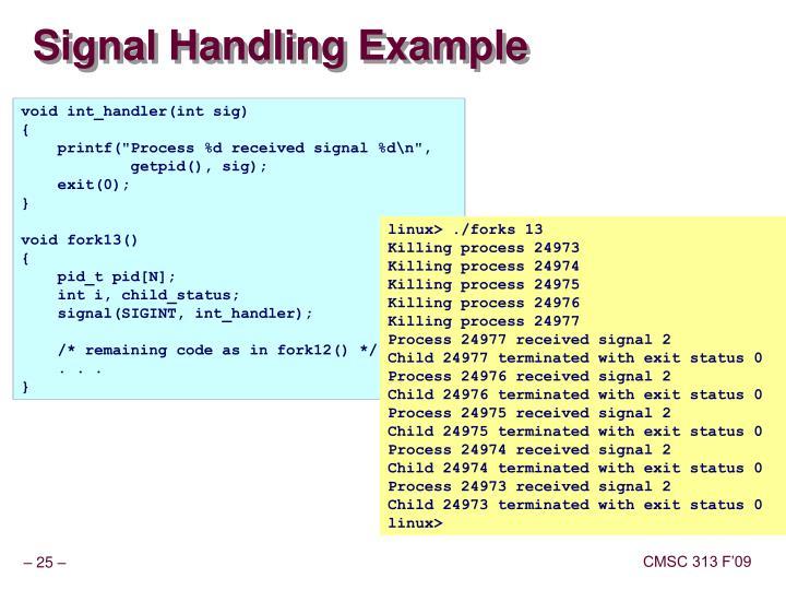 Signal Handling Example
