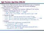 high precision algorithms xblas