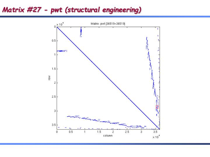Matrix #27 - pwt (structural engineering)