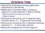 performance tuning