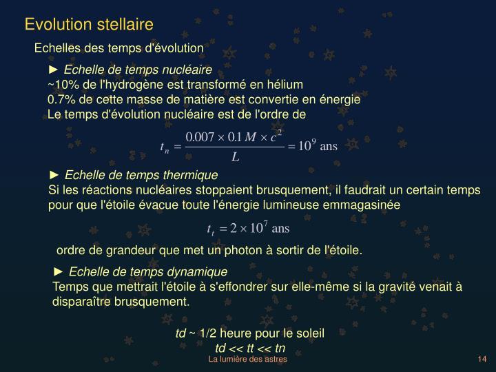 Evolution stellaire