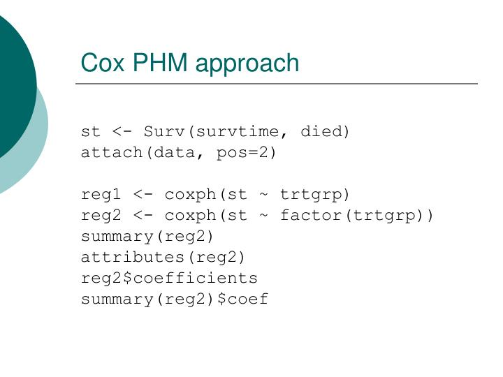 Cox PHM approach