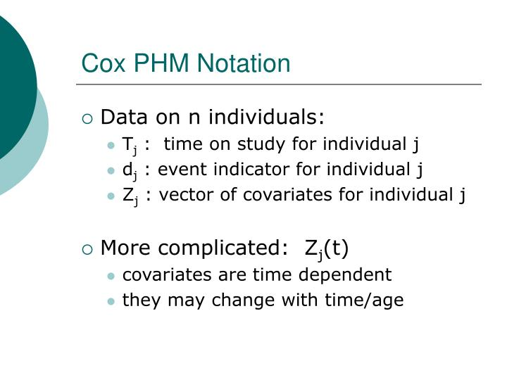 Cox PHM Notation
