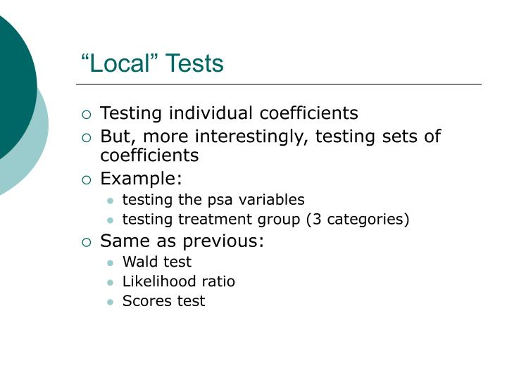 """""""Local"""" Tests"""