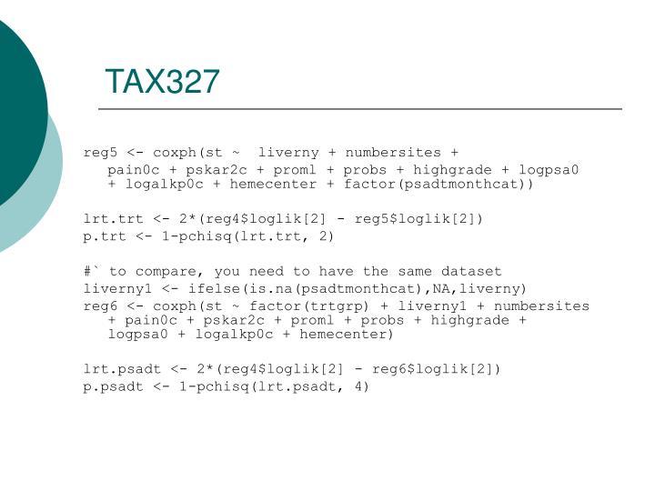 TAX327