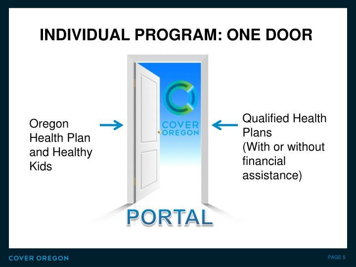 Individual Program: One Door