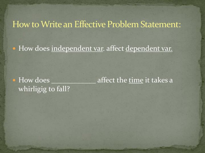 How to Write an Effective Problem Statement: