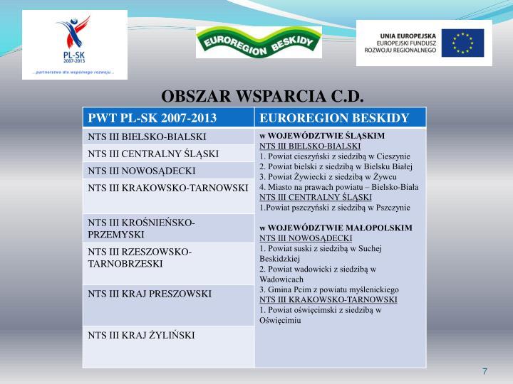 OBSZAR WSPARCIA C.D.