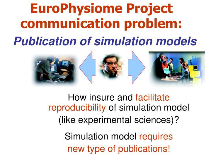 EuroPhysiome Project communication problem: