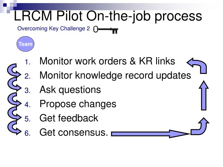 LRCM Pilot On-the-job process