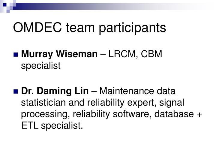 OMDEC team participants