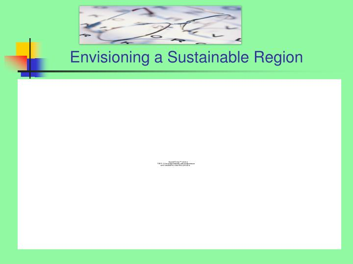 Envisioning a Sustainable Region