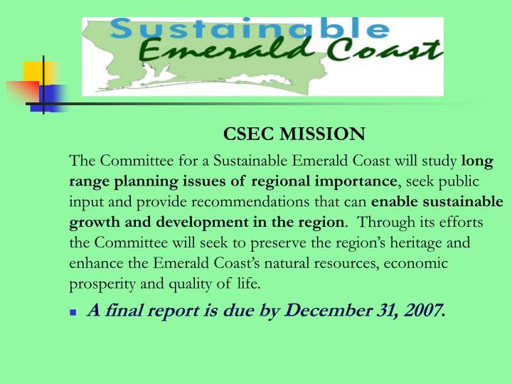 CSEC MISSION