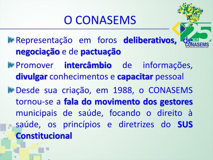 O CONASEMS