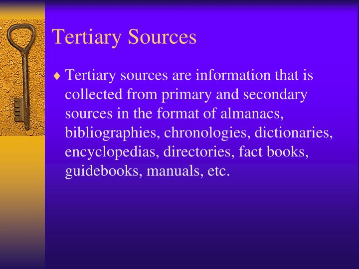 Tertiary Sources