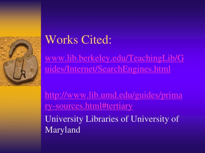 Works Cited:
